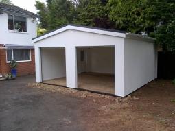 Smooth Render Double Modular Integrated Garage