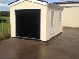 Smooth Render Modular Integrated Garage