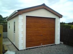 Dash Finish Modular Integrated Garage with Quoin Stones