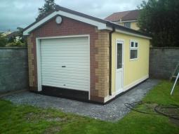 Real Brick Front Modular Integrated Garage