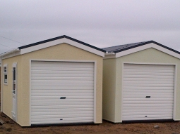 Roughcast Stipple Modular Garages