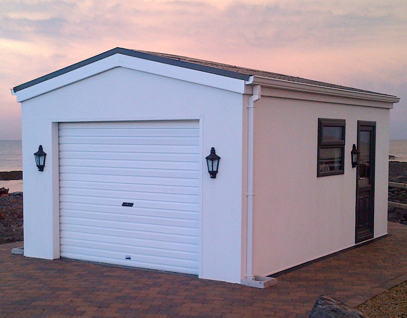 Modular steel garages steel sheds steel garages for Cheap garden office buildings