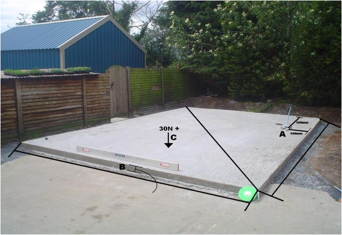 Concrete Base For Shed Perfect How To Build A Log Cabin